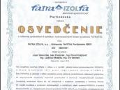 Fatra Izolfa certifikát zaškoleného realizátora