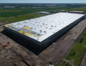 Izolace střech v logistickém centru v Kostolných Kračanoch